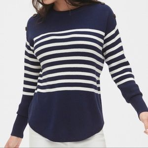 Gap blue and white sailor sweater NWOT